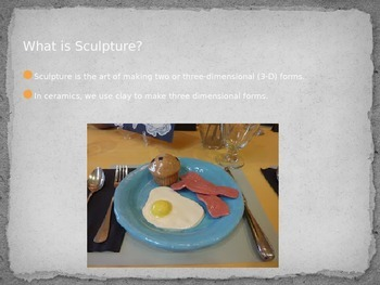 Food Culture Sculpture - Middle & High School Ceramic Visual Art Project
