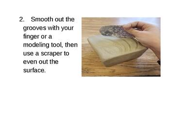 Ceramic Slip Inlay Process Visual