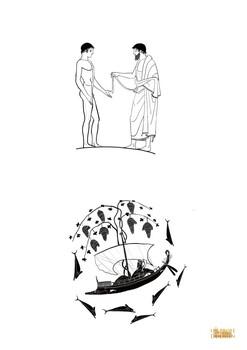 Cerámicas griegas para colorear