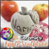Ceramic Art Lesson, Apple Sculpture Art Project