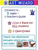 The ART of Ceramics (7 Open-Ended pages, with Teacher's Gu