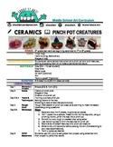 Ceramics - Pinch Pot Creatures: Middle School Art Lesson & Worksheets