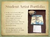Ceramics Student Artist Portfolio Poster/Handout