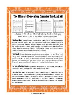 Ceramics Tracking Sheet