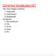 Ceramics Vocabulary Worksheet
