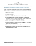 Cerate a Business with a Proposal Complete Unit Plan