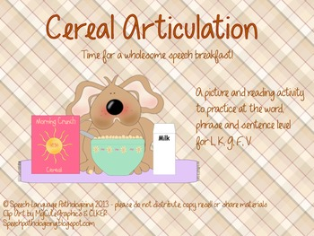Cereal Articulation