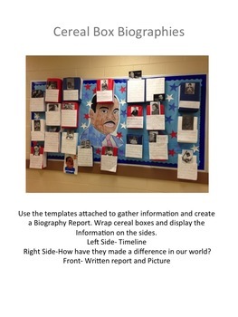 Cereal Box Biographies
