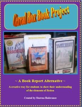 Cereal Box Book Project:A Book Report Alternative;Rubric *Microsoft Word*