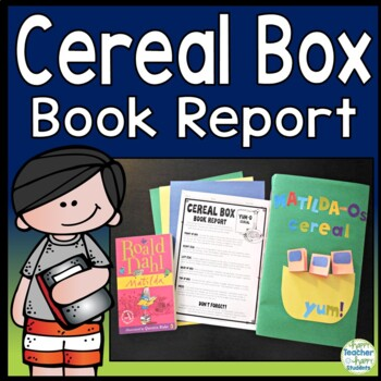 Cereal Box Book Report: Directions, Rubric & Example Photos | Tpt
