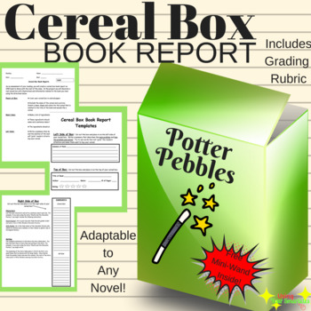cereal box book report commercials
