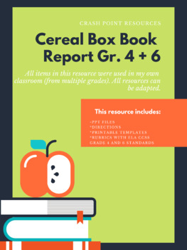 Cereal Box Book Report (Gr. 4 and Gr. 6)