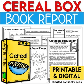 Cereal Box Book Report Kit By Shelly Rees  Teachers Pay Teachers