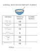 Cereal Box Book Report Project - Elementary Reading - Rubric Included
