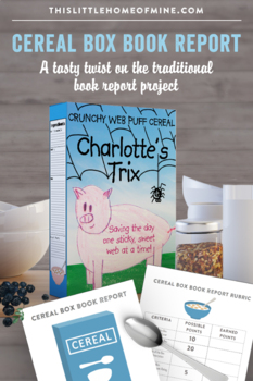 Cereal Box Book Report Project - Elementary Reading - Rubr
