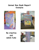 Cereal Box Book Report Rubric and Examples