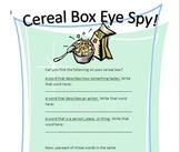 Cereal Box Eye Spy Game Set
