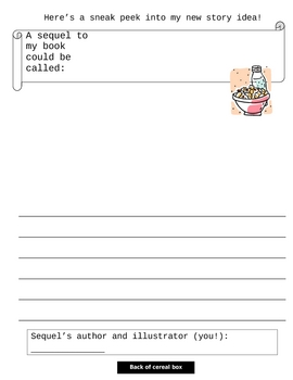 Cereal Box Monthly Book Project