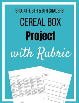 Cereal Box Project And Rubric By Early Learning Foundations Tpt