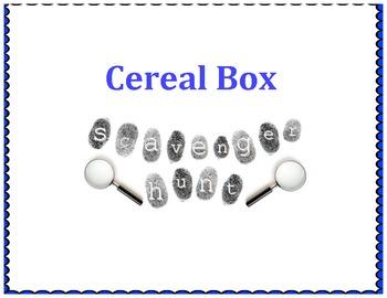 Cereal Box Scavenger Hunt