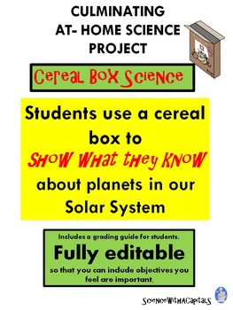 Cereal Box Science: The Solar System