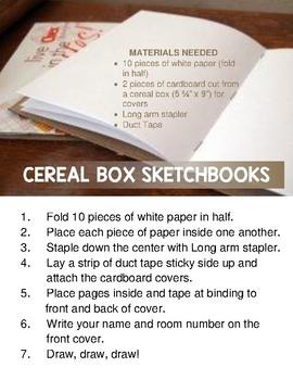 Cereal Box Sketchbooks