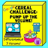 Cereal Challenge Pump Up the Volume! Volume of Rectangular
