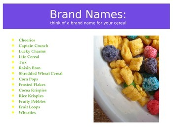 Cereal Print Ad PowerPoint