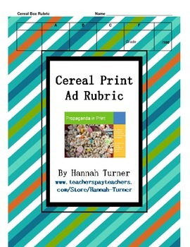 Cereal Print Ad Rubric
