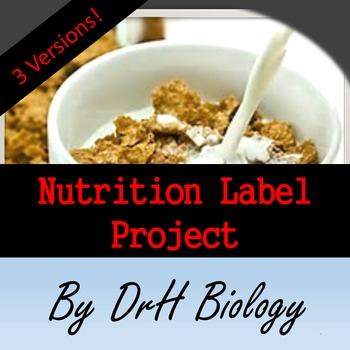 Nutrition Label Project (3 Versions)