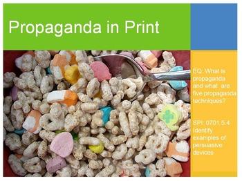 Propaganda in Print/Cereal Print Ad and Box Project Bundle