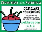 Spanish Phonics Center Words with C S Z - Centro de fonética Palabras con C S Z