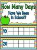 Certainly Chevron | Rainbow | 180 Days of School Count Ten Frame Display