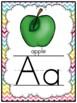Certainly Chevron -Soft Brights- Alphabet Display Poster Set