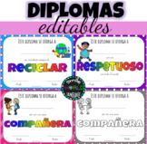 Certificados EDITABLES Diplomas Premios Graduación Español
