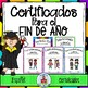 Certificados Para El Fin de Año