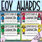 Certificados para el fin de año escolar