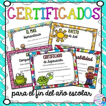 Certificados para el fin del año