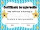 Certificados para el final del año escolar en español (Cer