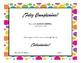 Certificados para la clase de español