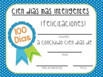 Certificados para los 100 Dias