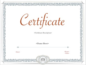 Captivating Certificate   Achievement Style PDF Template