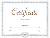 Certificate - Achievement Style PDF Template