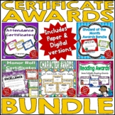 Certificate Awards Bundle   Digital and Paper Version