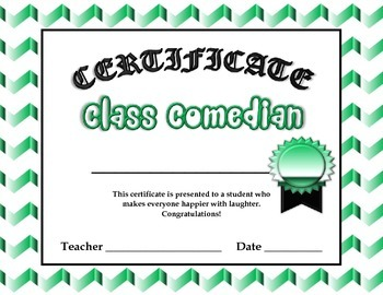 Certificate Awards for Class (20 different Awards)