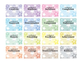 Character Certificates