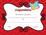 Appreciation Certificate - Congratulations - Freebie and Editable