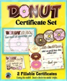 Certificates – Donut Appreciation Set
