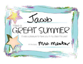 Certificate: Have a Great Summer