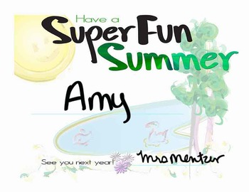 Certificate: Have a Super Fun Summer